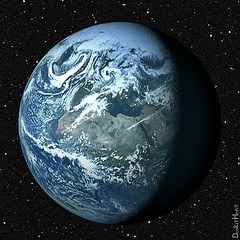 Earth | Source: DonkeyHotey on Flickr via CC BY 2.0 Licence